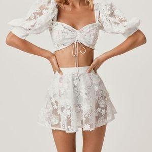 For Love and Lemons Crochet Daisy Skater Skirt